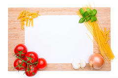 Wooden cutting board with vegetables Royalty Free Stock Photos