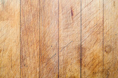 Wooden cutting board with vertical lines background Stock Image