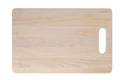 wooden cutting board on white background Stock Photography