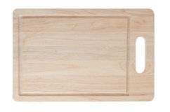 Wooden cutting board on white background Royalty Free Stock Photos