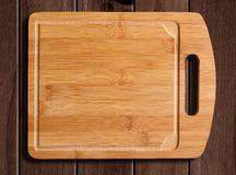 Wooden cutting table Stock Photos