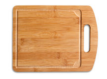 Wooden cutting table isolated. Royalty Free Stock Images