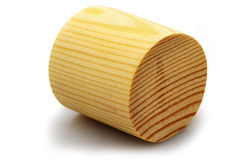 Wooden cylinder stock photo