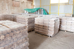 Wooden cylinder storage Stock Images