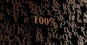 100% - Wooden 3D rendered letters/message Royalty Free Stock Images