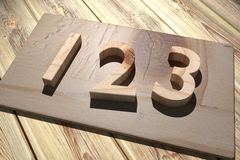 123 wooden. 3d rendering of a wooden 123 numbers Stock Photos