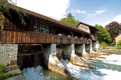Wooden dam Stock Photos