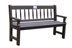 Wooden dark brown  bench Stock Photo