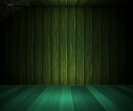 Wooden Dark Green Room Royalty Free Stock Images
