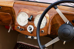 Wooden dashboard Royalty Free Stock Photos