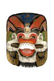 Wooden Dayak Mask Royalty Free Stock Photography