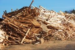 Wooden debris Stock Photos