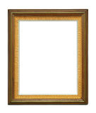 Wooden decadent frame on white background. Vintage picture frame on white background, with clipping path Stock Photos