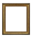 Wooden decadent frame on white background. Vintage ruined picture frame on white background, with clipping path Stock Image