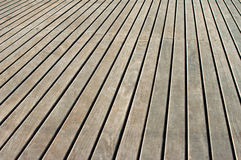 Wooden deck. A fragment of wooden deck in a daylight stock image