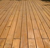 Wooden Deck Stock Photo