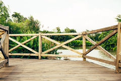 Wooden deck wood patio outdoor Royalty Free Stock Photos