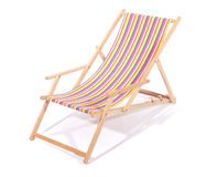 Wooden deck chair Royalty Free Stock Photos