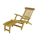 Wooden deck chair isolated Royalty Free Stock Images