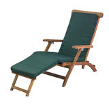 Wooden deck chair  Royalty Free Stock Images