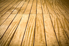 Wooden deck Stock Image