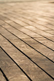 Wooden deck. Empty out door wooden deck Stock Photos