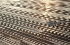 Wet Wooden Deck Royalty Free Stock Image