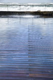 Wet Wooden Boardwalk Stock Photos