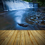 Wooden deck floor and Royalty Free Stock Images