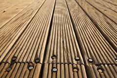 Bolted Wooden Deck Royalty Free Stock Photography