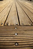 Diminishing Wooden Deck Royalty Free Stock Photos
