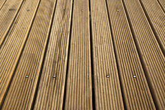 Wodden Deck High Angle Stock Photos