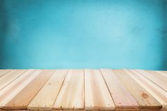 Wooden Deck Mockup Template Stock Images