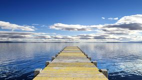 Wooden deck over the sea Royalty Free Stock Photos