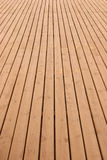 Wooden deck perspective Royalty Free Stock Image