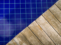 Wooden deck pool Stock Images