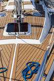 The wooden deck of the yacht Royalty Free Stock Photography