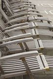 Wooden deckchairs Stock Photography