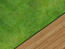 Wooden decking Royalty Free Stock Photo