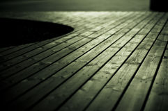 Wooden Decking Detail Royalty Free Stock Photos