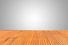Wooden decking or flooring isolated on blank grey space for desi. Old wooden decking or flooring isolated on blank grey space for design Royalty Free Stock Image