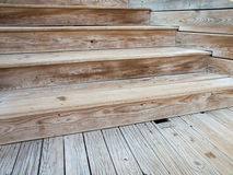 Wooden decking and stairs Royalty Free Stock Photo