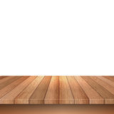 Wooden decking on white background Royalty Free Stock Photo