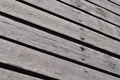 Wooden decks. With wooden nails Stock Photo