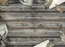 Wooden Decorated Background Stock Photos