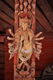 Wooden decoration, Bhaktapur, Nepal Royalty Free Stock Photo