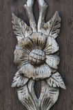 Wooden decoration. Close up shot of some wooden decoration in Vipava valley, Slovenia Stock Images