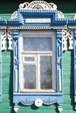 Wooden decoration on traditional Russian window Royalty Free Stock Photos