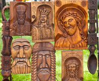 Wooden decorations Stock Photos