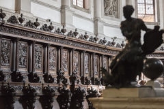Wooden decorations in the church Royalty Free Stock Photography
